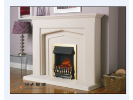 100x100mm fireplace glass robax